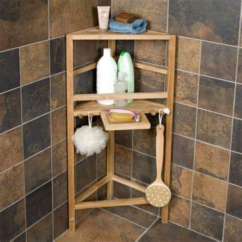 bathroom accessories corner shelf freestanding teak corner shower shelf with removable soap