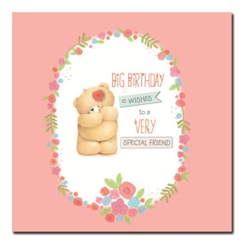 Greeting Card Birthday Friend Special Friend Birthday Wishes Forever Friends Card