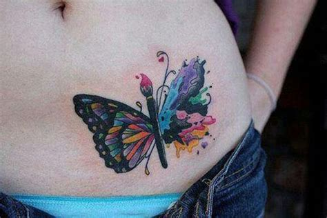 butterfly tattoo playing peekaboo on your back 94 original butterfly tattoo designs for every summer