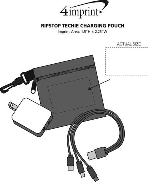section 111 of public law 110 173 4imprint com ripstop techie charging pouch 143681