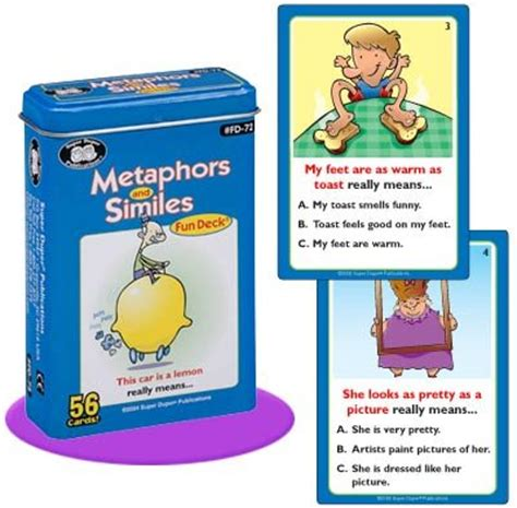 sle of metaphor metaphors and similes deck cards duper
