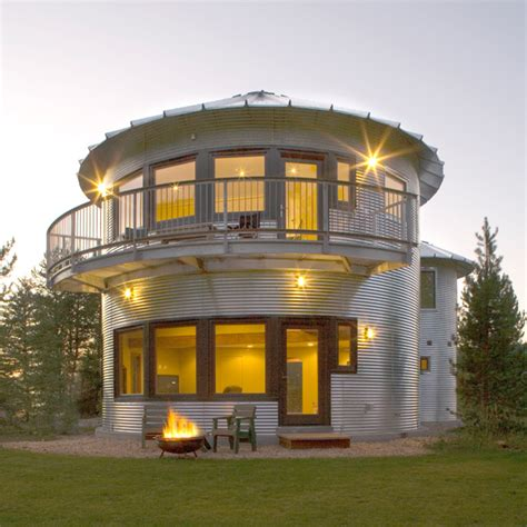 Grain Bin House Floor Plans by Silo House In Utah Grain Silos Rock Modern House Designs
