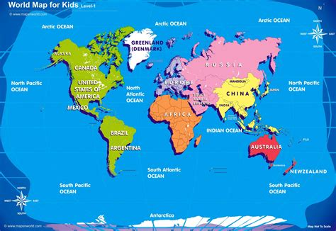 Printable Children S World Maps Free | world map kids printable