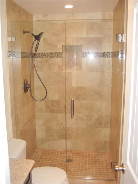 inviting small bathroom with shower designs taking glass