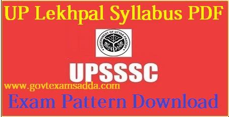 upsssc chakbandi lekhpal syllabus   written exam pattern
