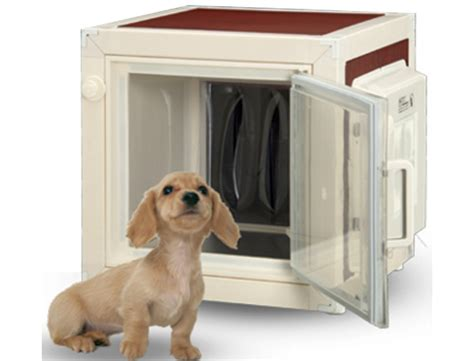 heated and air conditioned dog house air conditioned dog house by mrt corp keeps your pooches comfortable all year round