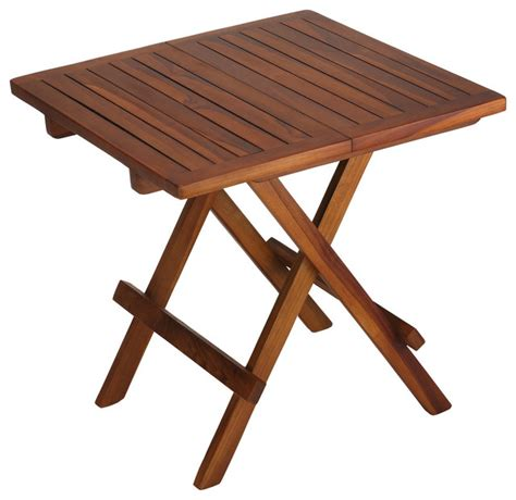 Small Folding Patio Side Table Bare Decor Ravinia Folding Teak Small Table Finish Scandinavian Outdoor Side Tables