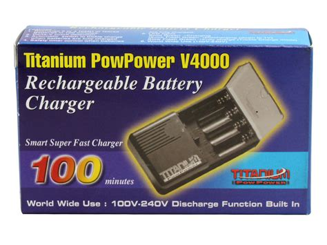 titanium battery charger titanium innovations v4000 4 bay ultra fast battery