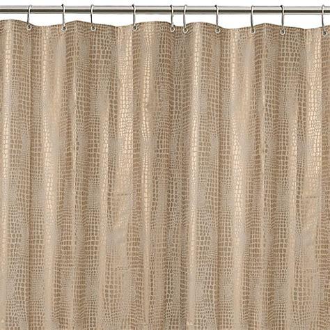 gator shower curtain peva gator shower curtain in gold bed bath beyond
