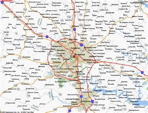 richmond va city map richmond va