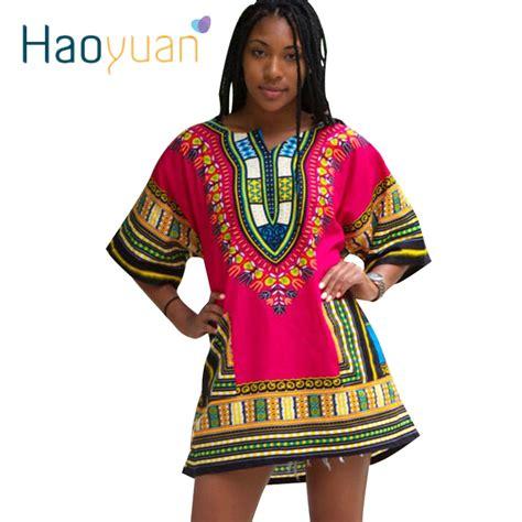 aliexpress kenya haoyuan dashiki dress 2018 african woman traditional print