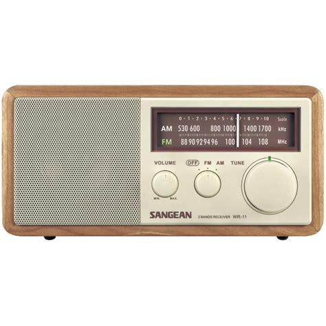 sangean wr11 wood cabinet am fm tabletop radio