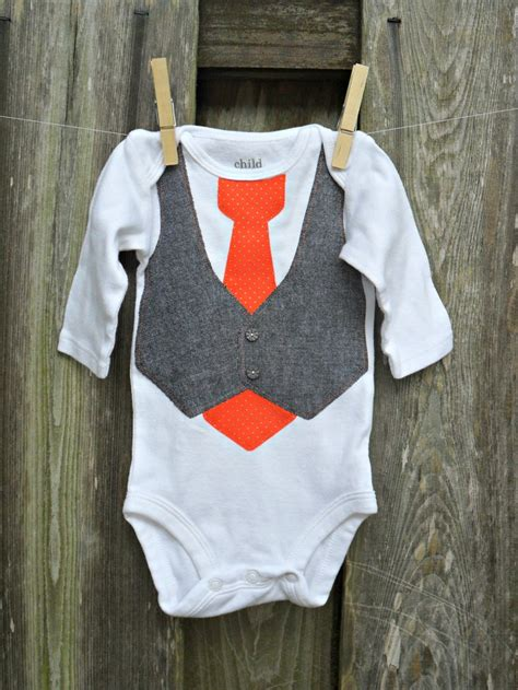 shirt onesie pattern baby onesie with gray tweed vest patterned tie using