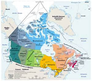 large detailed political and administrative map of canada