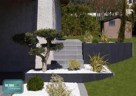 massif jardin avec olivier cr ation de jardins sur