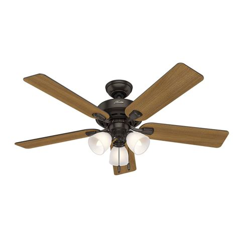 bass pro ceiling fans hunter pro desk 52 in 3 light indoor premier bronze