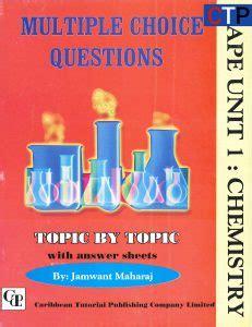 cape unit 1 chemistry multiple choice questions