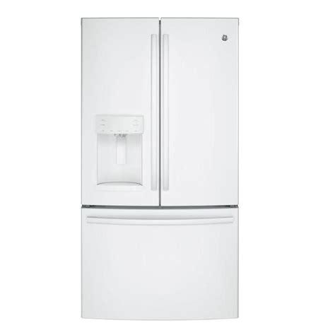 ge 27 8 cu ft french door refrigerator in slate ge 27 8 cu ft french door refrigerator in white