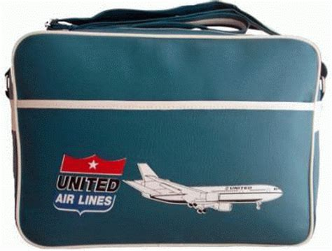 united airlines bag vintage flight bags retro travel bags with airline logos