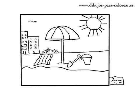 imagenes para dibujar un cuadro dibujos de playa dibujos para colorear