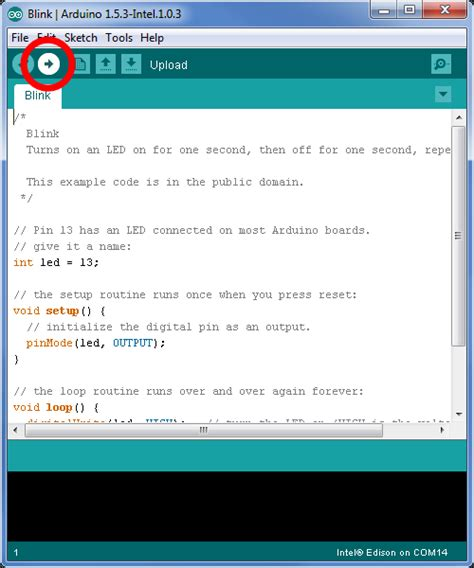 Arduino Mega Sensor Shield V20 iot blinking an led with the arduino ide