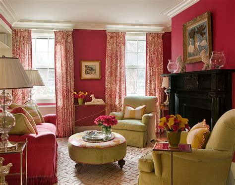 sophisticated pink paint colors colorful living rooms traditional home