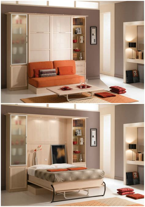 table sofa and bed all in one bookcase bed and dining table in one space saving unit