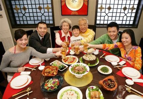 new year traditional family dinner new year festival introduction and