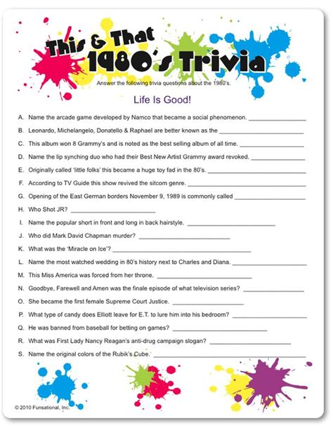 printable love quiz printable this that 1980 s trivia funsational com