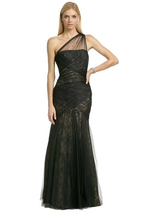 Dress L tulle to lace gown by ml lhuillier for 105 rent