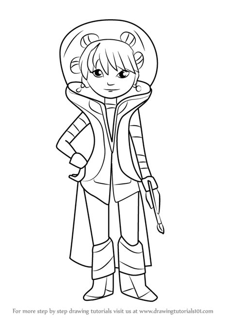 Learn How to Draw Frida from Miles from Tomorrowland