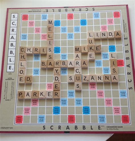 picture of a scrabble board chagne thursdays scrabble projects