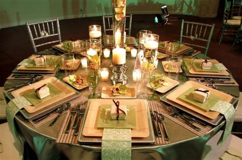 beautiful table settings green and brown violet s blog there is something so elegant about new