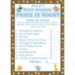 free printable price is right baby shower template 24 personalized baby shower price is right cards zoo
