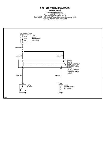 1987 mazda b2600 distributor wiring diagram toyota paseo