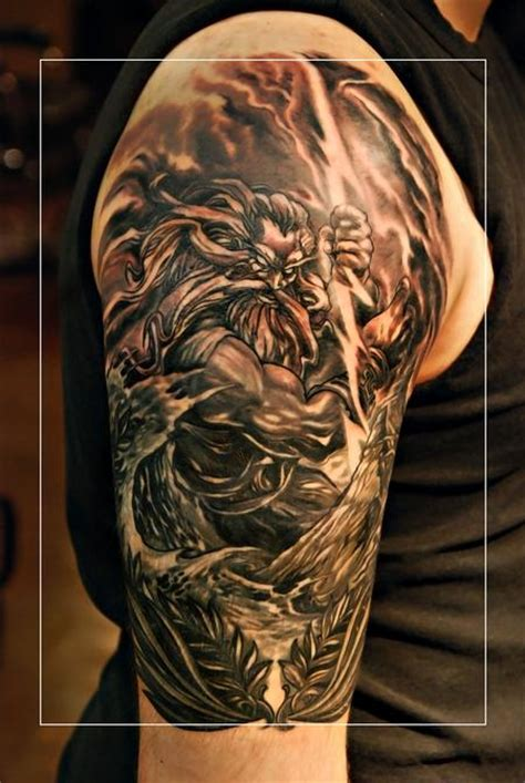 zeus tattoo back power zeus by litos tattoonow