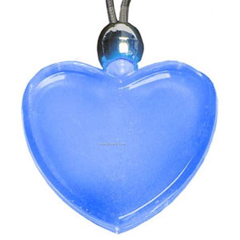light blue pendant necklace blue heart light up pendant necklace china wholesale blue