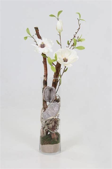 Decoratie In Hoge Glazen Vaas by Speurders Nl Decoratie Met Hout En Zijde Bloemen Voor