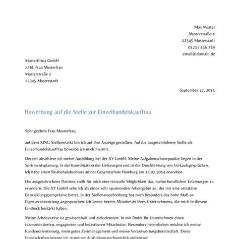 Aufbau Anschreiben Bewerbung 2015 Bewerbungsschreiben