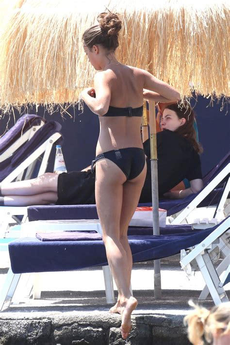 celebrities enjoy a beach day during the ischia global
