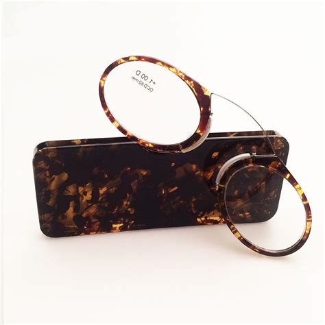 new portable clip nose wallet reading glasses with 3