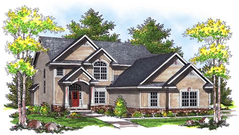 traditional 2 story house plans traditional two story home plan 89323ah 2nd floor master suite cad available