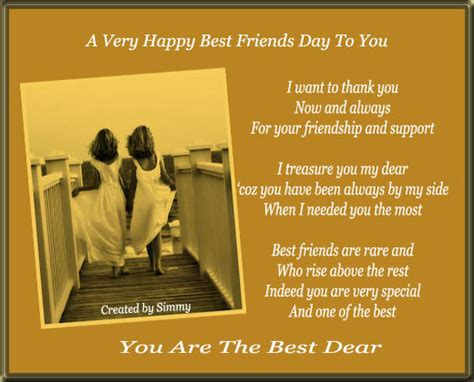 best friends day you are the best dear free happy best friends day ecards