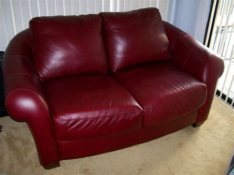 Burgundy Loveseat by Burgundy Leather Sofa And Loveseat For Sale Classified