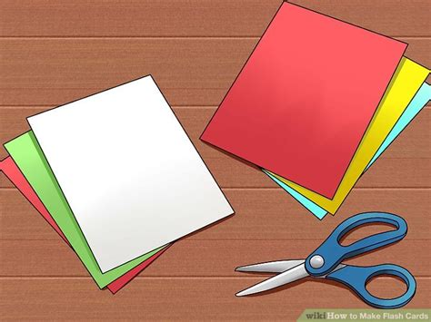 how to make flash cards 5 ways to make flash cards wikihow