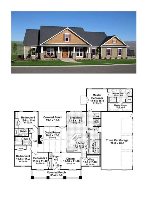 4 Bedroom Craftsman House Plans Best 25 4 Bedroom House Plans Ideas On House Plans Country House Plans And House