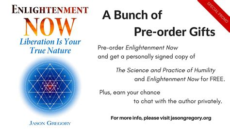 we changed the pre order books enlightenment now my new book and a bunch of pre order