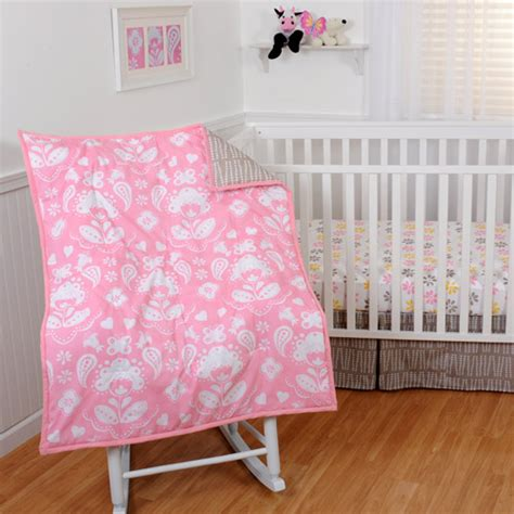 Sumersault Mackenzie 4 Piece Crib Bedding Set Walmart Com Walmart Baby Bedding Sets