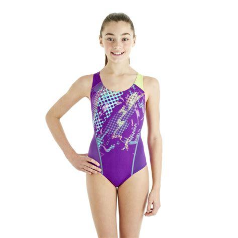 speedo girl swimsuit speedo hydroturn placement splashback girls swimsuit