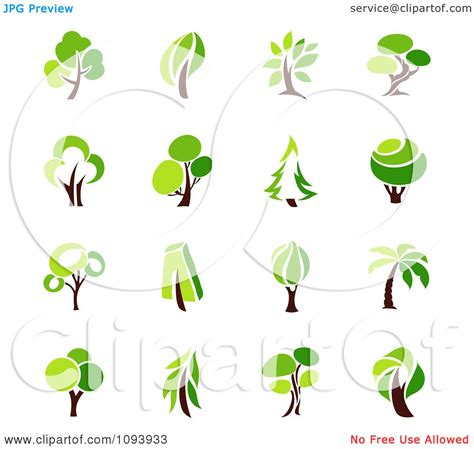 Clipart Green Tree Logos Royalty Free Vector Illustration By Elena 1093933 Green Tree Logo Vector Vector Logo Free